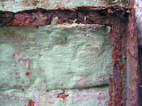 Free Stock Photo of Rusted metal frame