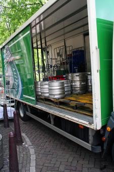 Free Stock Photo of Beer in trailer