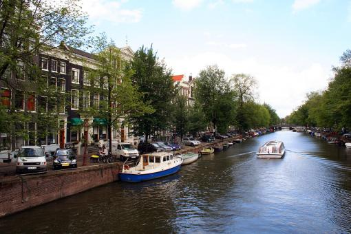Free Stock Photo of Canal in Amsterdam