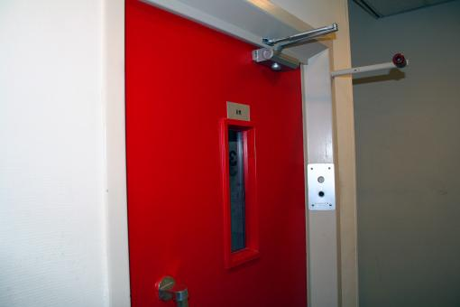 Free Stock Photo of Red Elevator Door