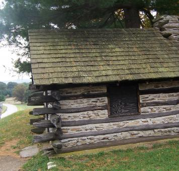 Free Stock Photo of VALLEY FORGE PARK CABIN