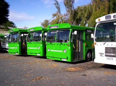 Free Stock Photo of New Zealand is about green buses