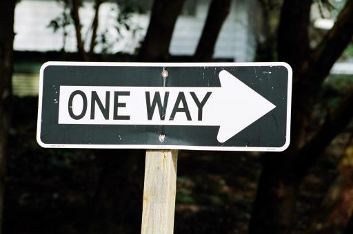 Free Stock Photo of One way