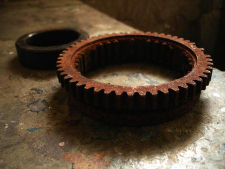 Free Stock Photo of Rusted gear