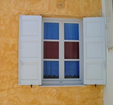 Free Stock Photo of santorini window