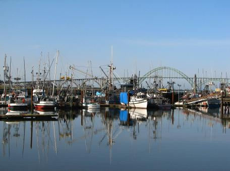 Free Stock Photo of yaquina bay boats