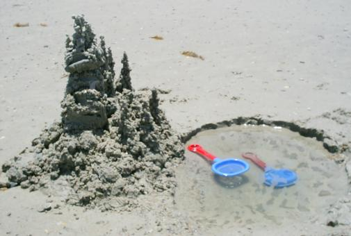 Free Stock Photo of Sand castle