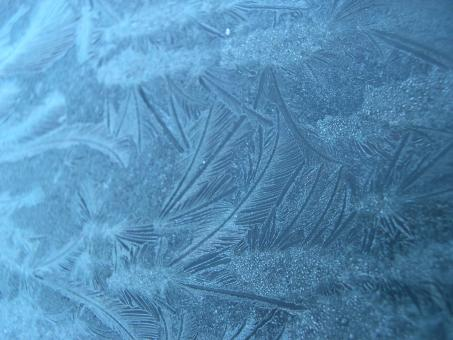 Free Stock Photo of Frost patterns on glass