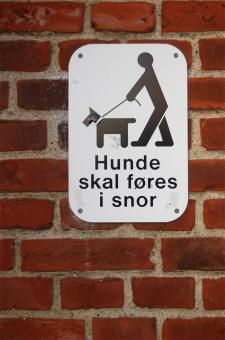 Free Stock Photo of Danish no dogs sign