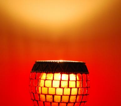 Free Stock Photo of Red lamp