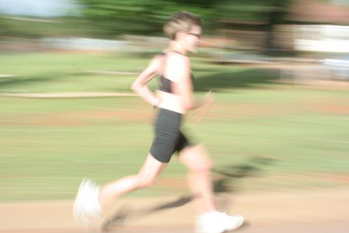 Free Stock Photo of Female athlete running
