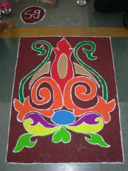 Free Stock Photo of Indian rangoli diwali