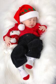 Free Stock Photo of Christmas baby