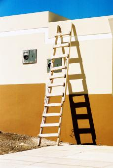 Free Stock Photo of New house old ladder