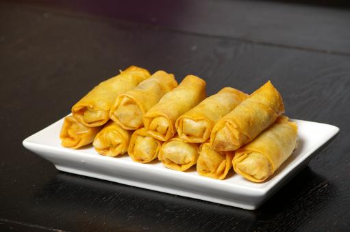 Free Stock Photo of Egg rolls