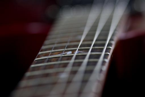 Free Stock Photo of Guitar neck