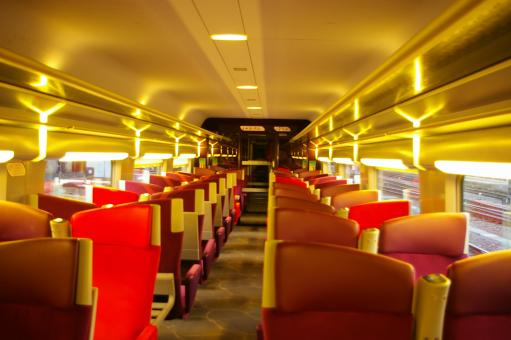 Free Stock Photo of Interior TGV
