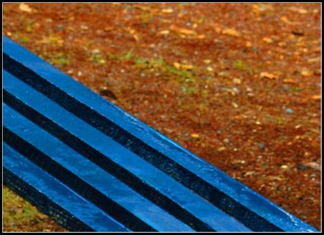 Free Stock Photo of Blue bench
