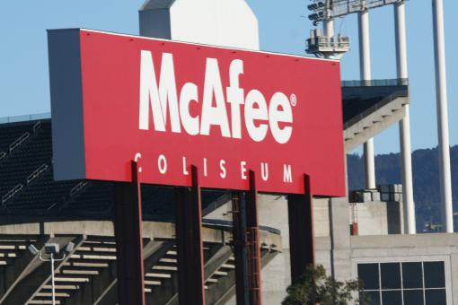 Free Stock Photo of McAfee sign