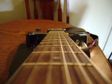 Free Stock Photo of Guitar View