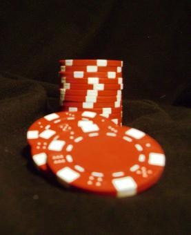 Free Stock Photo of Red Poker Chips