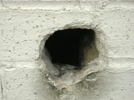 Free Stock Photo of Hole in the Wall