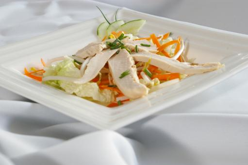 Free Stock Photo of Chicken salad