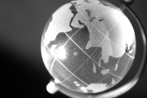 Free Stock Photo of Black and white globe