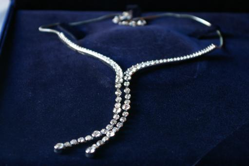 Free Stock Photo of Diamond necklace