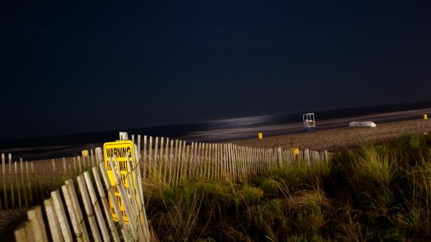 Free Stock Photo of Beach at night