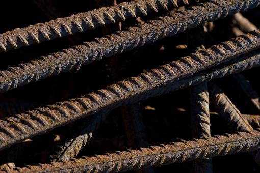 Free Stock Photo of Rusted metal bars