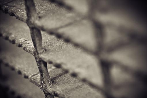 Free Stock Photo of Metal grid texture