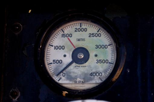 Free Stock Photo of RPM meter