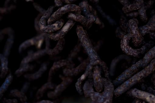 Free Stock Photo of Rusted steel chain