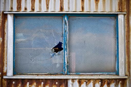 Free Stock Photo of Broken window