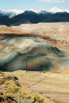 Free Stock Photo of Colorful copper mine