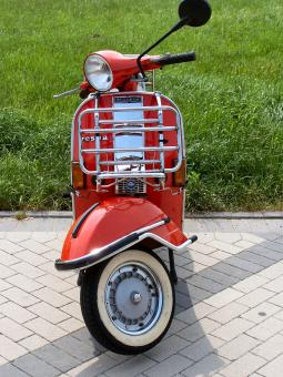 Free Stock Photo of My old vespa scooter
