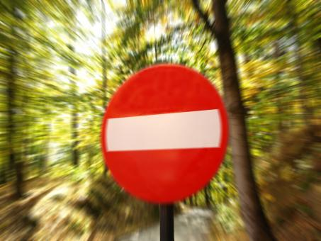 Free Stock Photo of No enter danger stop very close