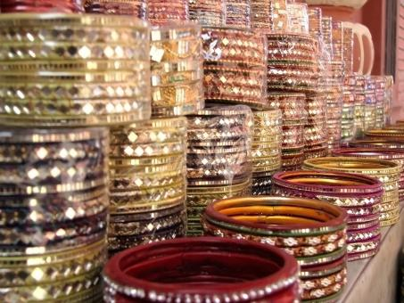 Free Stock Photo of Array of Indian Bangles