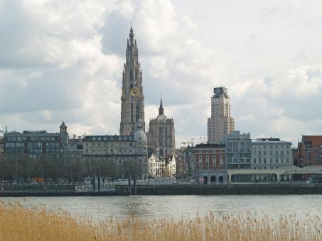 Free Stock Photo of Antwerp Skyline