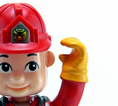 Free Stock Photo of Fireman toy