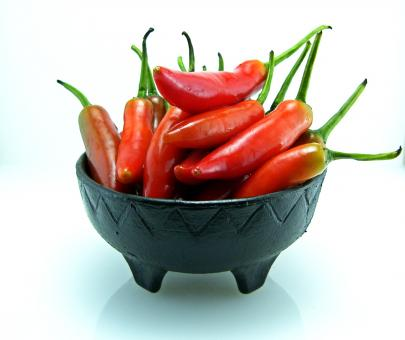 Free Stock Photo of Red peppers bowl