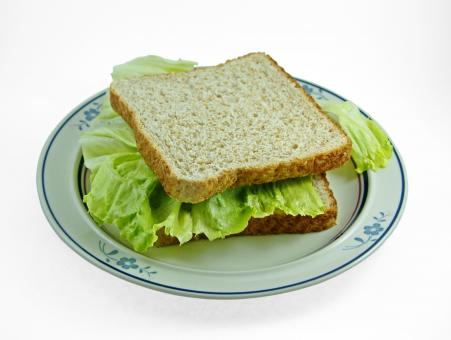 Free Stock Photo of Lettuce Sandwich