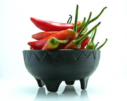Free Stock Photo of Hot pepper bowl
