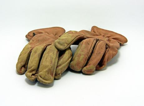 Free Stock Photo of Old leather gloves