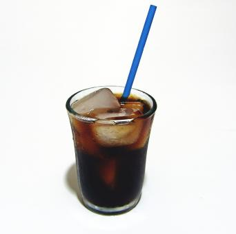 Free Stock Photo of Cold drink with a straw