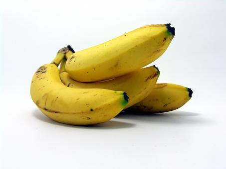 Free Stock Photo of Four bananas