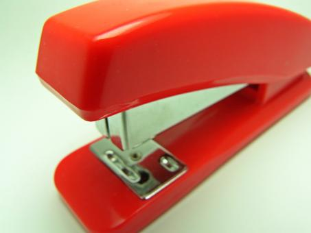 Free Stock Photo of Red stapler