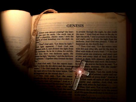 Free Stock Photo of Genesis Bible Page