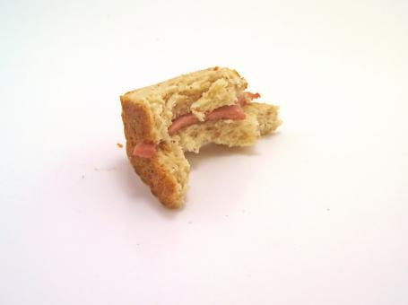 Free Stock Photo of Bite of sandwich